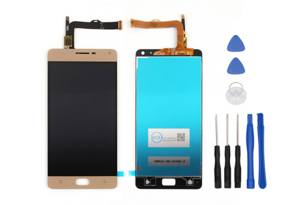 Фирменный LCD-ЖК-сенсорный дисплей-экран-стекло в сборе с тачскрином на телефон Lenovo Vibe P1 Pro золотой + гарантия