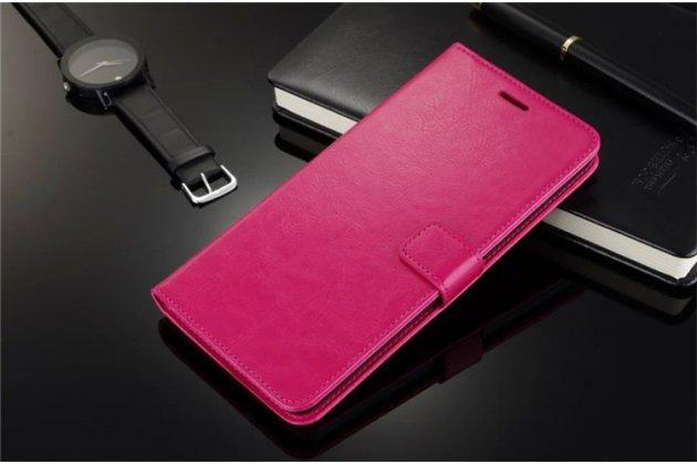 Фирменный чехол-книжка из качественной импортной кожи с подставкой застёжкой и визитницей для Lenovo Vibe P1 / P1 Pro (C72) 5.5 розовый