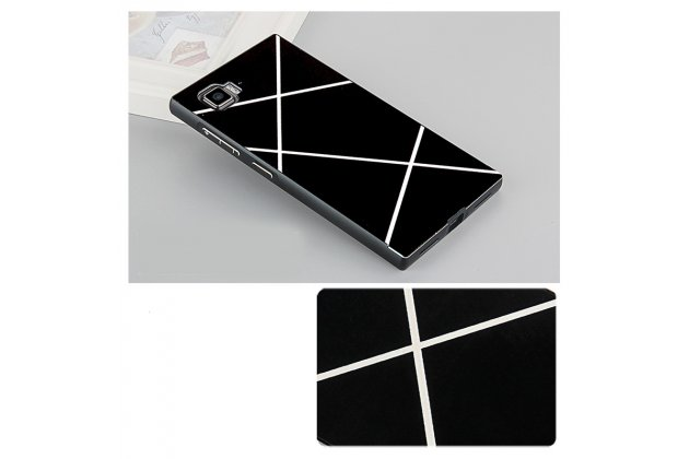 """Фирменная металлическая задняя панель-крышка-накладка из тончайшего облегченного авиационного алюминия для Lenovo Vibe Z2 mini K920 5.5"""" с декором черная"""