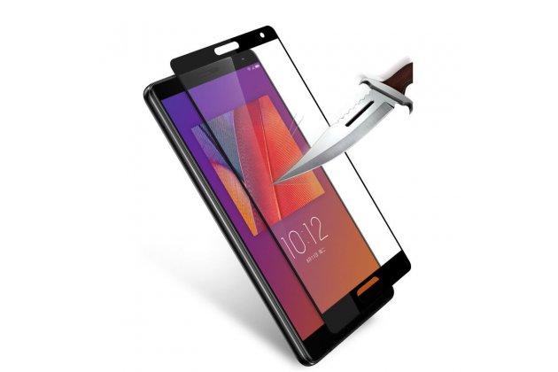 Фирменное 3D защитное изогнутое стекло с закругленными изогнутыми краями которое полностью закрывает экран / дисплей по краям с олеофобным покрытием для Lenovo Zuk Edge