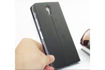 Фирменный оригинальный чехол-книжка для Lenovo Zuk Edge черный с окошком для входящих вызовов водоотталкивающий