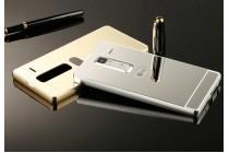 Фирменная металлическая задняя панель-крышка-накладка из тончайшего облегченного авиационного алюминия для LG Class серебристая