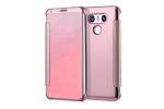"""Чехол-книжка с дизайном """"Clear View Cover""""  полупрозрачный с зеркальной поверхностью для LG G6 (H870DS) 5.7 розовый"""