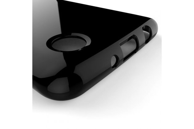 Фирменная ультра-тонкая полимерная из мягкого качественного силикона задняя панель-чехол-накладка для LG K8 2017 (X240) черная