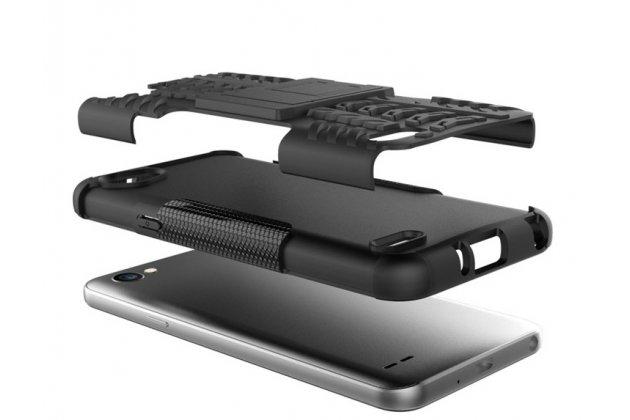 Противоударный усиленный ударопрочный фирменный чехол-бампер-пенал для LG G6 mini / LG Q6 / LG Q6 Plus / LG Q6a M700 белый