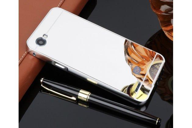 Фирменная металлическая задняя панель-крышка-накладка из тончайшего облегченного авиационного алюминия для LG G6 mini / LG Q6 / LG Q6 Plus / LG Q6a M700 серебристая