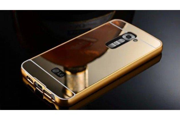 Фирменная металлическая задняя панель-крышка-накладка из тончайшего облегченного авиационного алюминия для LG G6 mini / LG Q6 / LG Q6 Plus / LG Q6a M700 золотая
