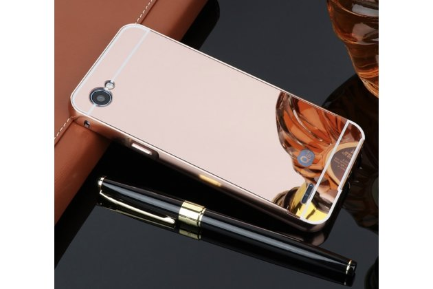 Фирменная металлическая задняя панель-крышка-накладка из тончайшего облегченного авиационного алюминия для LG G6 mini / LG Q6 / LG Q6 Plus / LG Q6a M700 розовое золото