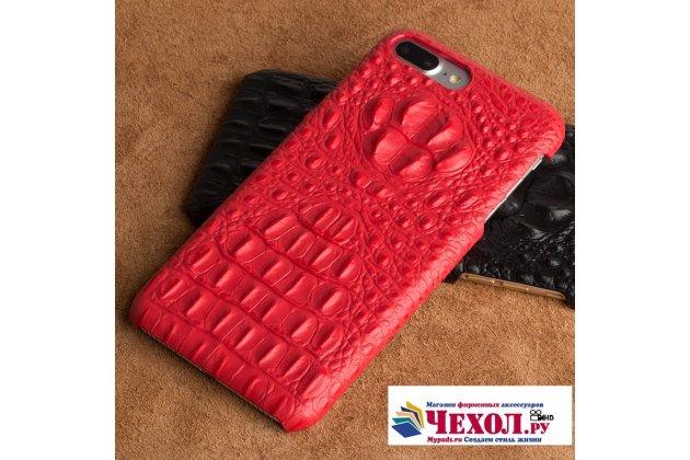 Фирменная роскошная эксклюзивная накладка с объёмным 3D изображением рельефа кожи крокодила красная для LG G6 mini / LG Q6 / LG Q6 Plus / LG Q6a M700. Только в нашем магазине. Количество ограничено