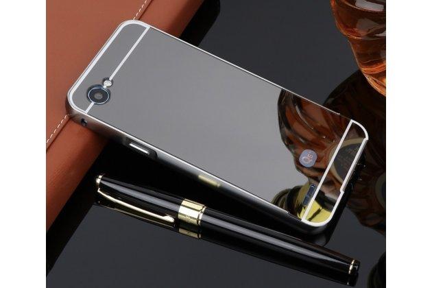 Фирменная металлическая задняя панель-крышка-накладка из тончайшего облегченного авиационного алюминия для LG G6 mini / LG Q6 / LG Q6 Plus / LG Q6a M700 черная