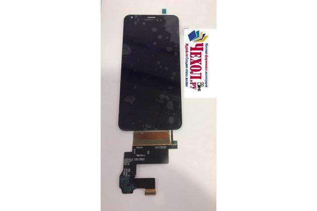 Фирменный LCD-ЖК-сенсорный дисплей-экран-стекло с тачскрином на телефон LG G6 mini / LG Q6 / LG Q6 Plus / LG Q6a M700 черный + гарантия