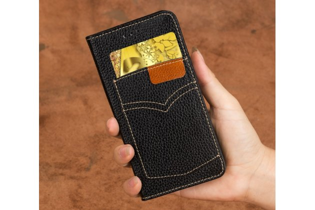 Фирменный премиальный элитный чехол-книжка из качественной импортной кожи с мульти-подставкой и визитницей для LG G6 mini / LG Q6 / LG Q6 Plus / LG Q6a M700  черный
