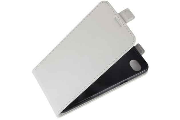 Фирменный оригинальный вертикальный откидной чехол-флип для LG G6 mini / LG Q6 / LG Q6 Plus / LG Q6a M700 белый из натуральной кожи Prestige