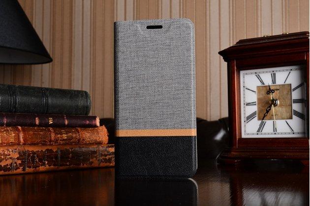 Фирменный чехол-обложка с подставкой для LG G6 mini / LG Q6 / LG Q6 Plus / LG Q6a M700 серый