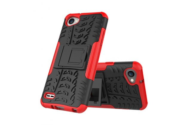 Противоударный усиленный ударопрочный фирменный чехол-бампер-пенал для LG G6 mini / LG Q6 / LG Q6 Plus / LG Q6a M700 красный