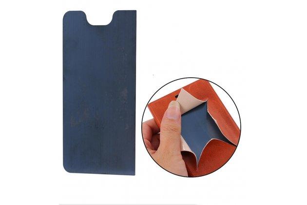 Фирменный чехол-обложка с подставкой для LG G6 mini / LG Q6 / LG Q6 Plus / LG Q6a M700 белый кожаный