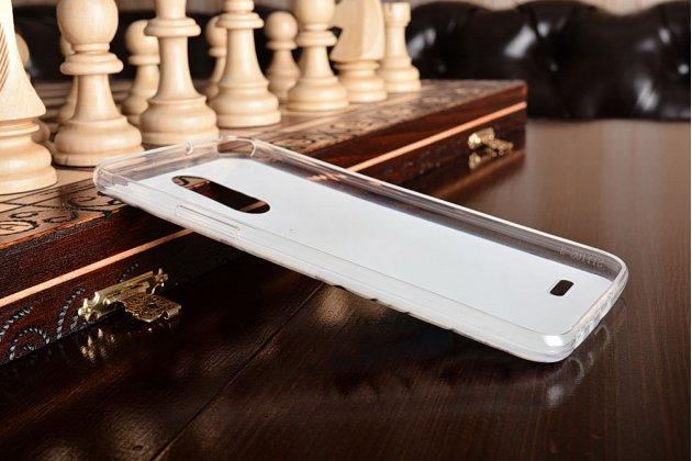 """Фирменная уникальная задняя панель-крышка-накладка из тончайшего силикона для LG Stylus 3 M400DY 5.7 """"тематика Бабочка""""."""