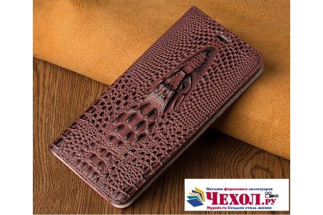 Фирменный роскошный эксклюзивный чехол с объёмным 3D изображением кожи крокодила цвет красное вино для LG V30  Plus  Только в нашем магазине. Количество ограничено