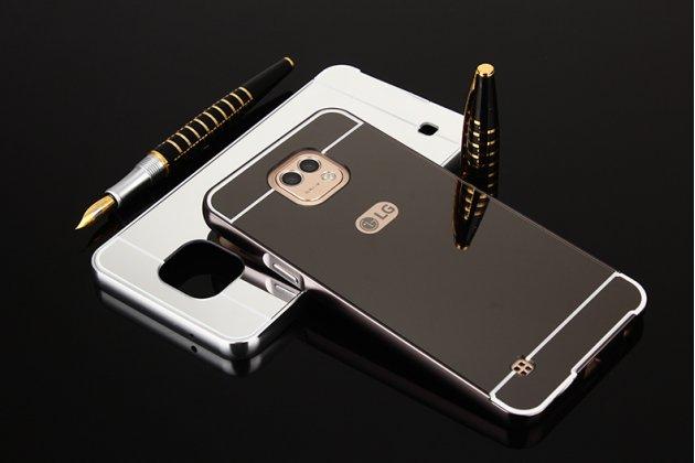Фирменная металлическая задняя панель-крышка-накладка из тончайшего облегченного авиационного алюминия для LG X cam K580DS черная