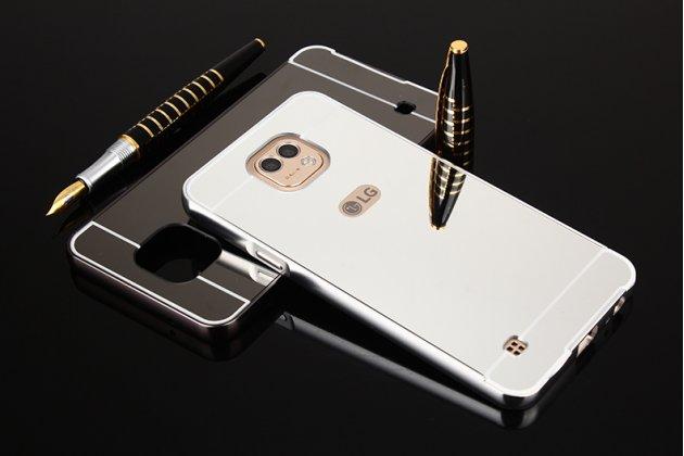 Фирменная металлическая задняя панель-крышка-накладка из тончайшего облегченного авиационного алюминия для LG X cam K580DS серебристая