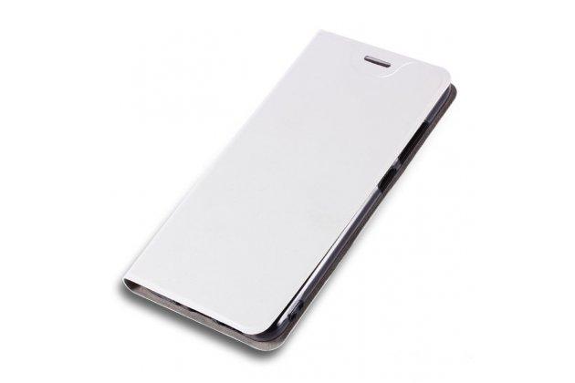 Фирменный чехол-книжка с мульти-подставкой на жёсткой металлической основе для LG X Power 2 M320/ Fiesta LTE  белый