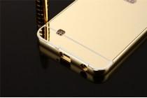 Фирменная металлическая задняя панель-крышка-накладка из тончайшего облегченного авиационного алюминия для LG X Power K220DS 5.3 золотая