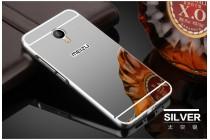 Фирменная металлическая задняя панель-крышка-накладка из тончайшего облегченного авиационного алюминия для Meizu M3E (A680H) 5.5 серебристая