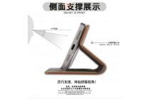 """Фирменный премиальный элитный чехол-книжка из качественной импортной кожи с мульти-подставкой и визитницей для Meizu M3E (A680H) 5.5 """"Ретро"""" коричневый"""