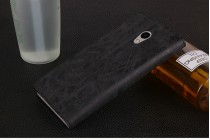 """Фирменный премиальный элитный чехол-книжка из качественной импортной кожи с мульти-подставкой и визитницей для Meizu M3E (A680H) 5.5 """"Ретро"""" черный"""