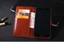 Фирменный чехол-книжка из качественной импортной кожи с застёжкой и мультиподставкой для Meizu M3X/Meilan X 5.5/Meizu X 5.5(M862Q) коричневого цвета
