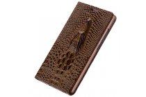 Фирменный роскошный эксклюзивный чехол с объёмным 3D изображением кожи крокодила коричневый для Meizu M3X/Meilan X 5.5/Meizu X 5.5(M862Q) . Только в нашем магазине. Количество ограничено
