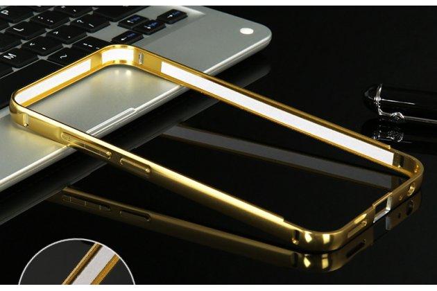 Фирменная металлическая задняя панель-крышка-накладка из тончайшего облегченного авиационного алюминия для Meizu M5 (M611A) 5.2 золотая с объёмным 3D рисунком тематика Дракон