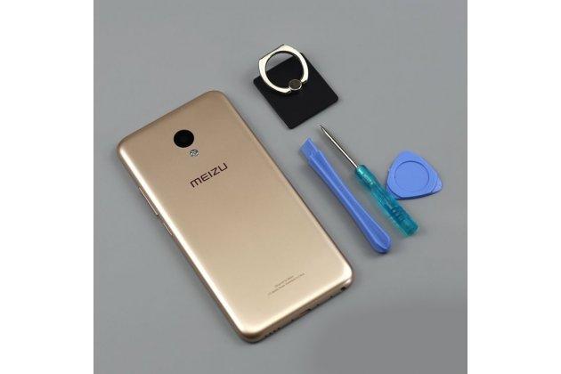 Родная оригинальная задняя крышка-панель которая шла в комплекте для Meizu M5 (M611A) 5.2 золотая