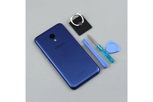 Родная оригинальная задняя крышка-панель которая шла в комплекте для Meizu M5 (M611A) 5.2 синяя