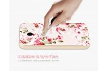 Фирменная роскошная задняя панель-чехол-накладка из металла с объемным  3D изображением для Meizu M5 (M611A) 5.2  с безумно красивым рисунком  Тематика Королевские Розы