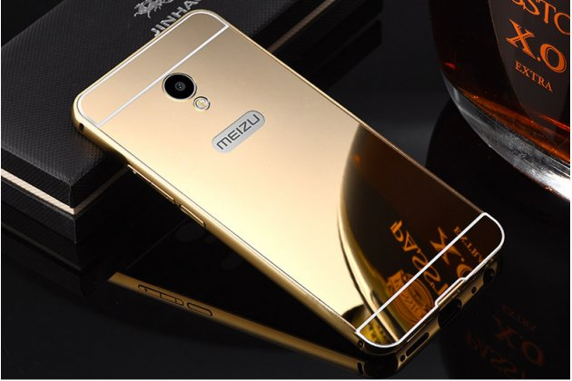 """Фирменная металлическая задняя панель-крышка-накладка из тончайшего облегченного авиационного алюминия для Meizu M5 Note"""" золотая"""