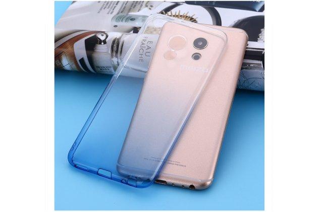 """Фирменная из тонкого и лёгкого пластика задняя панель-чехол-накладка для Meizu M5 Note"""" прозрачная с эффектом дождя"""