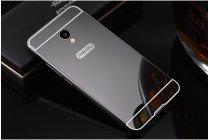"""Фирменная металлическая задняя панель-крышка-накладка из тончайшего облегченного авиационного алюминия для Meizu M5 Note"""" черная"""