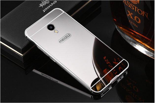 """Фирменная металлическая задняя панель-крышка-накладка из тончайшего облегченного авиационного алюминия для Meizu M5 Note"""" серебристая"""
