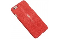 """Фирменная роскошная эксклюзивная накладка  из натуральной рыбьей кожи СКАТА (с жемчужным блеском) красная для Meizu M5 Note"""". Только в нашем магазине. Количество ограничено"""