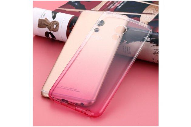 """Фирменная ультра-тонкая полимерная задняя панель-чехол-накладка из силикона для Meizu M5 Note"""" прозрачная с эффектом грозы"""