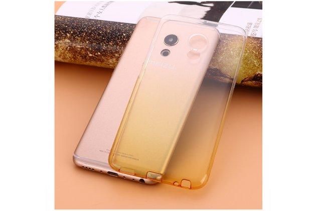 """Фирменная ультра-тонкая полимерная задняя панель-чехол-накладка из силикона для Meizu M5 Note"""" прозрачная с эффектом песка"""