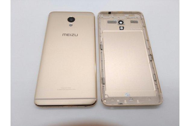 Родная оригинальная задняя крышка-панель которая шла в комплекте для Meizu M5 Note золотая