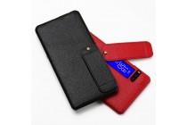 Фирменная премиальная элитная крышка-накладка из тончайшего прочного пластика и качественной импортной кожи  для Meizu Pro 7  красная