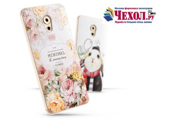 Фирменная роскошная задняя панель-чехол-накладка с безумно красивым расписным рисунком тематика Королевские цветы на Meizu Pro 7
