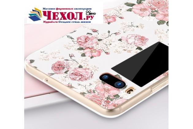 Фирменная роскошная задняя панель-чехол-накладка с безумно красивым расписным рисунком тематика Королевские розы на Meizu Pro 7