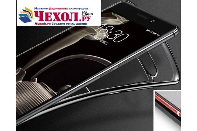 Фирменная ультра-тонкая полимерная из мягкого качественного силикона задняя панель-чехол-накладка для Meizu Pro 7 черная