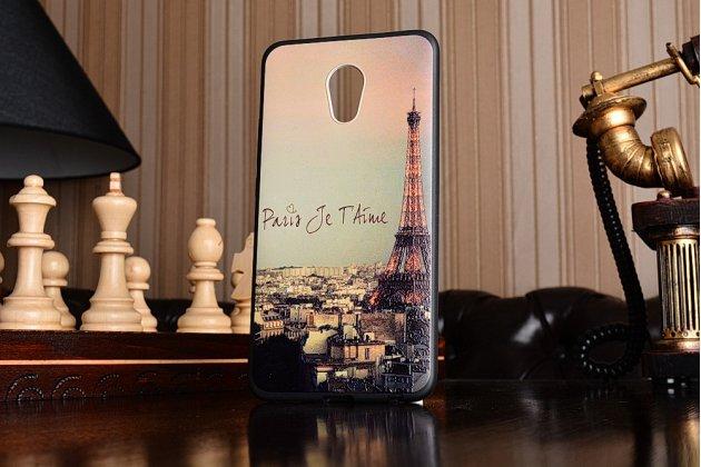 """Фирменная ультра-тонкая пластиковая задняя панель-крышка-накладка для Meizu Pro 6 Plus тематика """"Франция"""""""