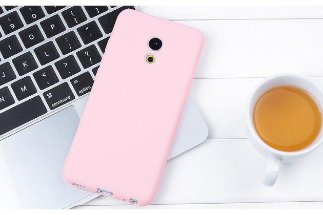 Фирменная ультра-тонкая полимерная из мягкого качественного силикона задняя панель-чехол-накладка для Meizu Pro 6 Plus розовая