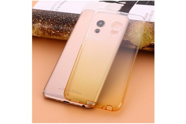Фирменная ультра-тонкая полимерная задняя панель-чехол-накладка из силикона для Meizu Pro 6 Plus прозрачная с эффектом песка